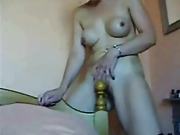 Mature Redhead Fucks the Bedpost 1