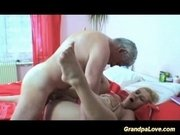 Nasty old man screws young blonde