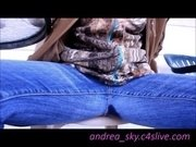 Pissing through my blue jeans- andrea sky