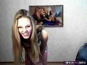 Blonde Teen gf Teases And Dances