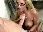 Cum loving spex blonde gets goo sprayed