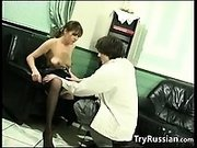 Russian Lovers Having Sex In The Office