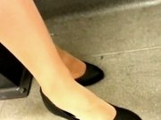 Looking At Great Legs In Pantyhose On A Train