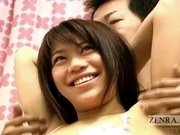 Embarrassed Japanese amateur has armpits licked English Subtitles