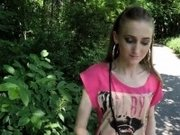 Ukrainian babe bangs in public for money
