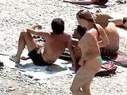 A lot of beautiful nude chicks got caught on cam on nudist beach