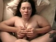 Titty fuck with busty girl