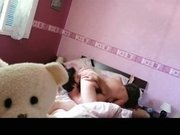 Couple In Bedroom In 69 Action