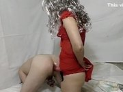 Lovely Amateur Pegging With Mind Blow Multiple Orgasms In Chstity Belt!