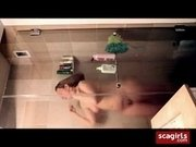 Shower Girl Horny Fondles Nipples  Masturbate Fail in Shower