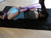I'm fucking a tied chick in amateur couple fuck clip