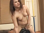 Chubby Asian Rides Her Sybian