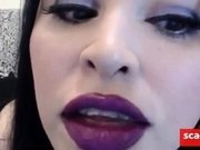 ASMR Purple Lipstick Kissing JOI