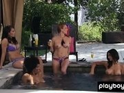 Amateur cougar housewives take a sunbath in the forest