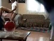 Careless wife gets fucked doggystyle on hidden camera