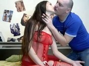 Kissing my gal in kinky outfit