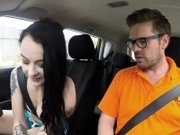 Instructor bangs driving school student