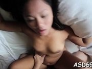 Hot exotic bombshell does a perfect blowjob