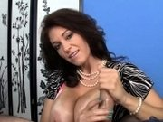Busty mature titfucking and wanking