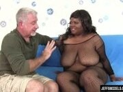 """Thick black girl Alena Lust takes thick white cock"""