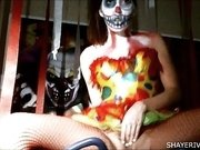 Shaye Rivers Halloween Clown Masturbation