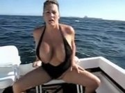 Busty Hotty on the Boat
