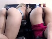 Amateur Latina Threesome on Webcam