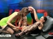 Red Double headed Dildo - German Goo Girls!