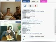 Kinky funny group sex via web camera