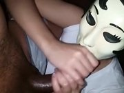 33. Handjob by my Emo girl cumming on her face