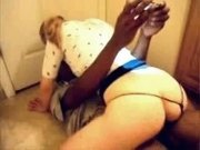 Interracial young couple at home