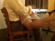 This homemade webcam vid shows me getting spanked