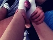 Young TEEN SOCKJOB with cute WHITE ankle socks and feet fucking with CUM|2::Teens,6::Amateur,30::POV,38::HD,46::Verified Amateurs,56::Feet,59::German