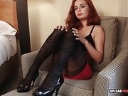 Seductive redhead will give you a rock-solid boner
