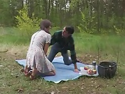 Busty Polish girl fucked in the forest