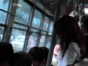 Needy young japanese cutie flashing milk shakes before sex