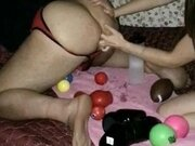 'Femdom -Double fisted, punched, and some toy play.'