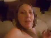 Amateur British girl farts cream out of her arsehole