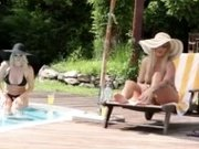 It's What we do - Blonde Bikini Babes' Poolside Pussy Licking
