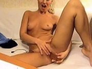 Sexy blonde on webcam