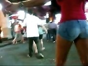 My hidden camera catches a sexy girl wearing shorts