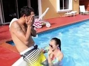 Czech teen amateur and wife first swallow Swimming In Semen