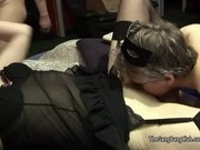 Thin older mature fucked by black cock