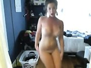 Filthy BBW webcam hoe dances topless exposing her fat ass