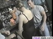 Black dress babe gangbang in bar then wa - From CHEAT-MEET.COM