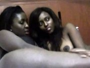 Hot ebony babes are doing some really kinky stuff to each