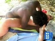 Cuckold - White Slut Fucked by BBC at the Beach.
