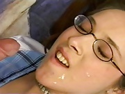 Cum on glasses