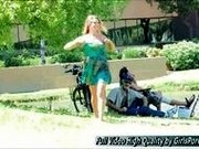 Veronica girls porn Blonde Play at a park and golf course