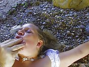 Lusty Milf Craves Abuse In The Sun